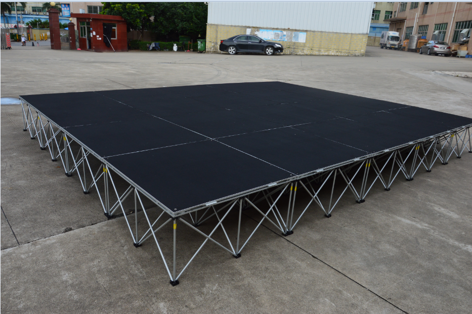 Portable Outdoor Flooring For Stage : Temporary portable stage for outdoor event