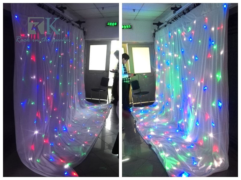 RK led curtain different color different using