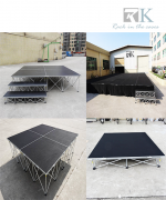 The used portable stage and used portable stage risers also can usefull