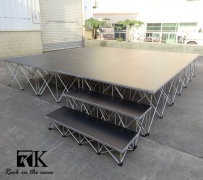 RK portable stage systems are completely modular and customizable