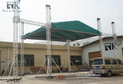 Stage truss rigging for stage truss system